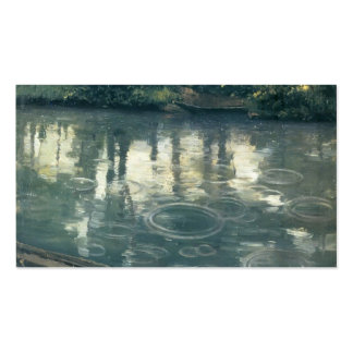 Gustave Caillebotte- The Yerres, Rain Business Card Templates
