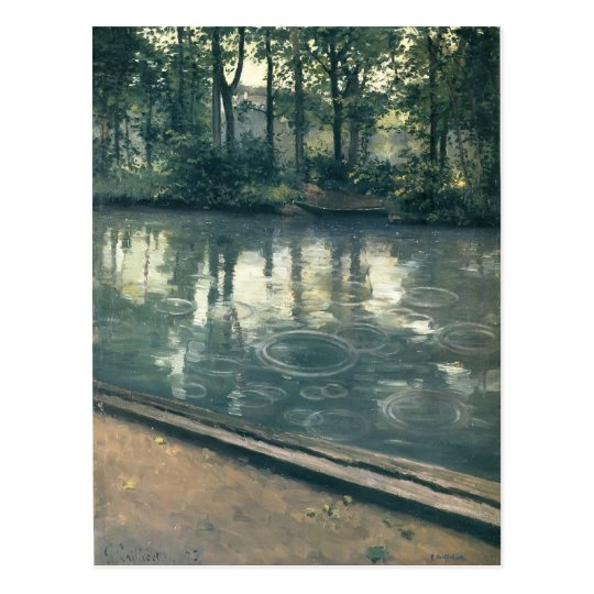 Gustave Caillebotte- The Yerres, Rain Postcard