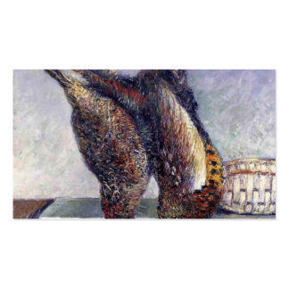 Gustave Caillebotte- Two Hanging Pheasants Business Card