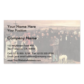 Gustave Courbet- A Burial at Ornans Double-Sided Standard Business Cards (Pack Of 100)