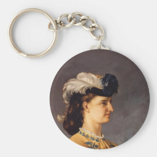 Gustave Courbet- Portrait of Countess Therese Keychain