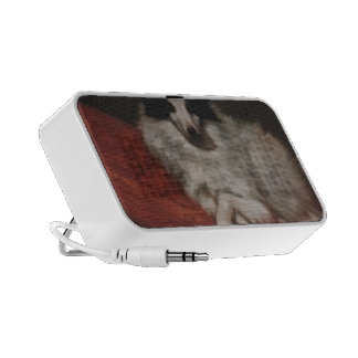 Gustave Courbet- Sitting on Cushions Dog iPhone Speaker