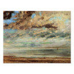 Gustave Courbet- The Beach, Sunset Poster