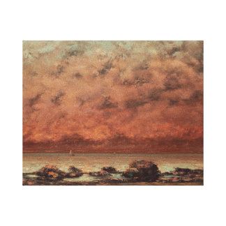 Gustave Courbet The Black Rocks At Trouville Gallery Wrapped Canvas