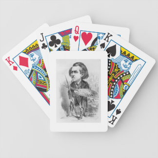 Gustave Dore (1832-83), caricature from 'Le Boulev Bicycle Playing Cards