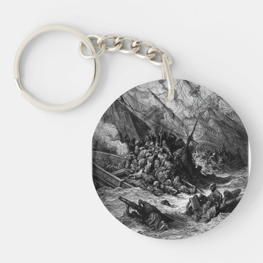 Gustave Dore: Battle of Lepanto in 1571 Acrylic Keychain