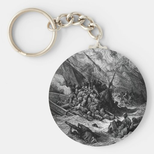 Gustave Dore: Battle of Lepanto in 1571 Key Chains