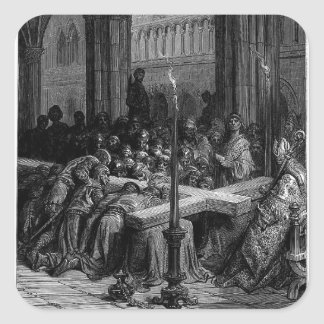 Gustave Dore: Discovery of The True Cross Square Sticker