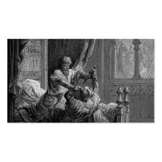 Gustave Dore Edward I of England kills his wouldbe Business Card Template