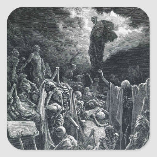 Gustave Dore:The Vision of the Valley of Dry Bones Stickers