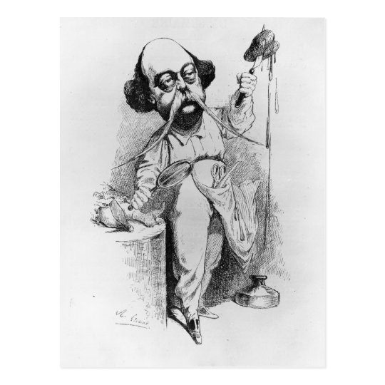 Gustave Flaubert Dissecting Madame Bovary Postcard