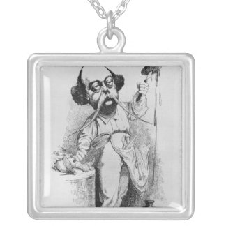 Gustave Flaubert  Dissecting Madame Bovary Silver Plated Necklace