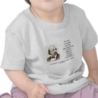 Gustave Flaubert Inventions True Poetry Science Tshirt