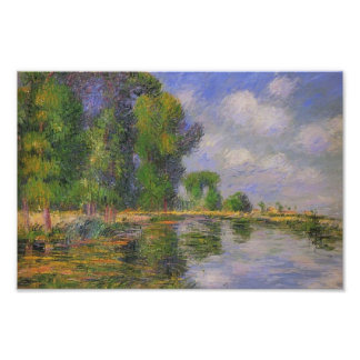 Gustave Loiseau- By the River in Autumn Poster