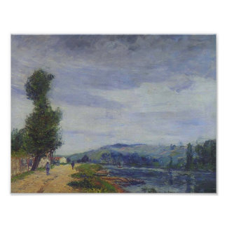 Gustave Loiseau- By the Seine Stormy Weather Poster