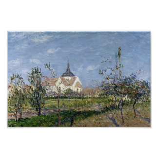 Gustave Loiseau- Church at Notre Dame at Vaudreuil Poster