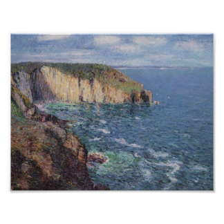 Gustave Loiseau- Cliffs at Cape Frehel Print