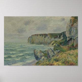 Gustave Loiseau- Cliffs at Saint Jouin Poster
