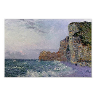 Gustave Loiseau- Cliffs in Normandy Evening Posters