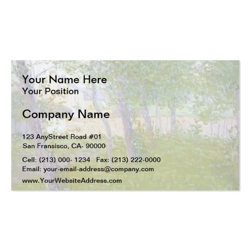 Gustave Loiseau- Garden by the House Business Card