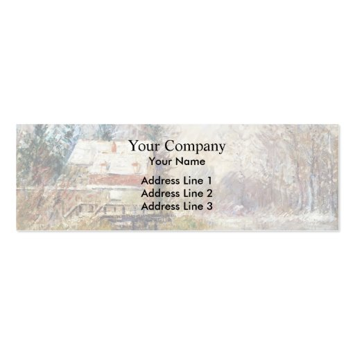 Gustave Loiseau- House by the Water Business Card Template