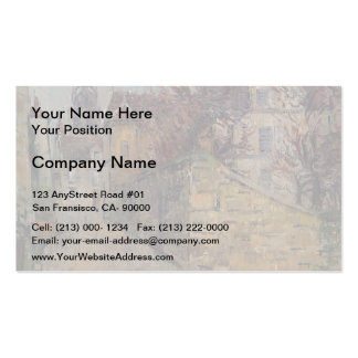 Gustave Loiseau- House of the Sisters in Pontoise Business Card Templates