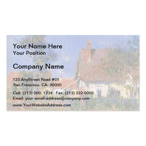 Gustave Loiseau- Houses in Normandy Business Card