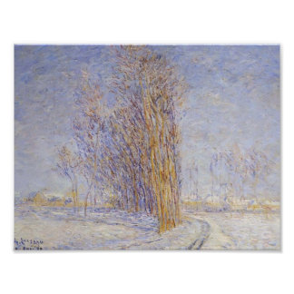 Gustave Loiseau- Landscape in Snow Poster