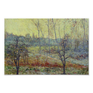 Gustave Loiseau- Landscape in Winter with Fog Poster