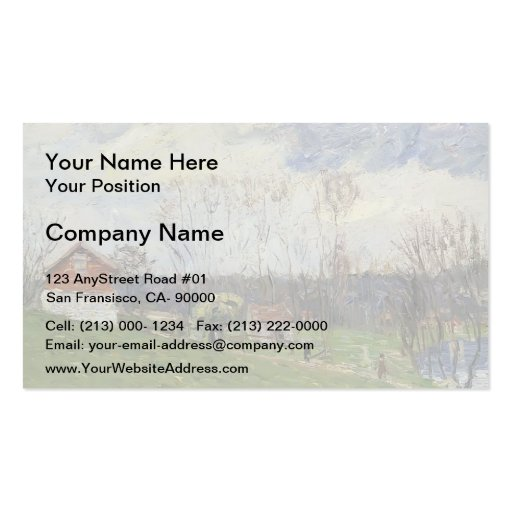 Gustave Loiseau- Landscape with House Business Card Template