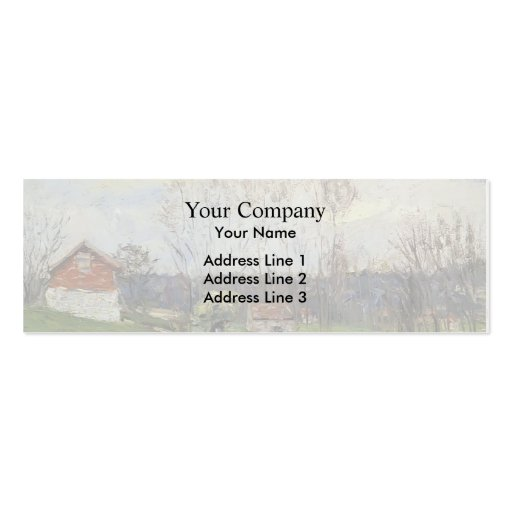 Gustave Loiseau- Landscape with House Business Card Templates