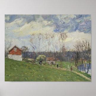 Gustave Loiseau- Landscape with House Print
