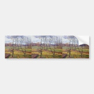 Gustave Loiseau- Overcast Weather at Nesles Vallee Bumper Sticker