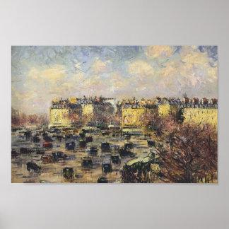 Gustave Loiseau- Paris   Wagram Avenue Print