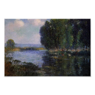 Gustave Loiseau- River Bend in Normandy Poster