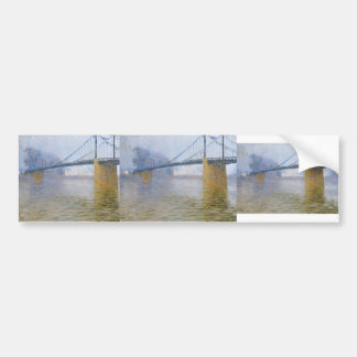 Gustave Loiseau- Suspended bridge at Triel Bumper Stickers