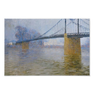 Gustave Loiseau- Suspended bridge at Triel Poster