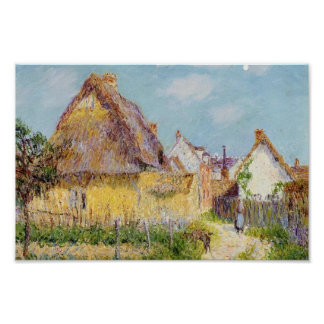 Gustave Loiseau- Thatched Cottage Print