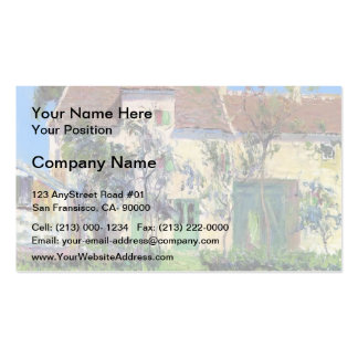 Gustave Loiseau- The Garden Behind the House Business Card Templates