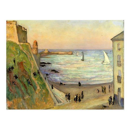 Gustave Loiseau- The Port at Collioure Postcard