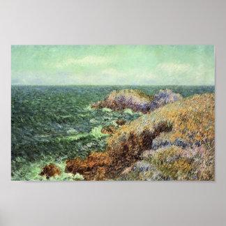 Gustave Loiseau- The Rocks of Saint Lunaire Print
