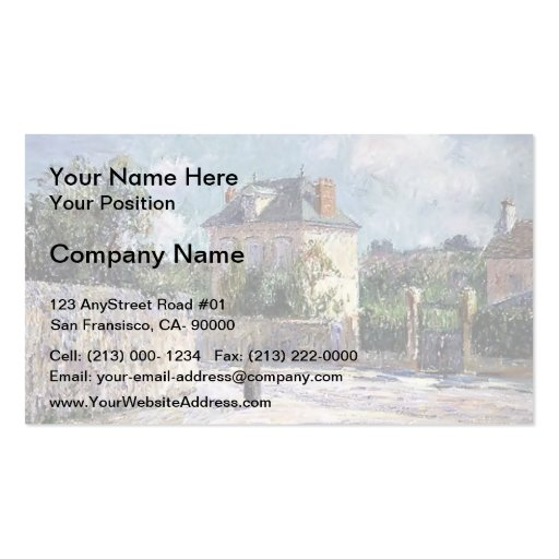 Gustave Loiseau- The Small Bourgeois House Business Card Template