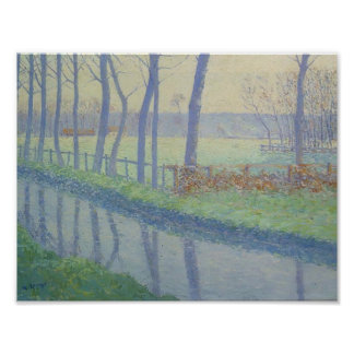 Gustave Loiseau- Trees by the River Posters