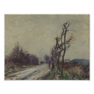 Gustave Loiseau- Village Road in Autumn Poster