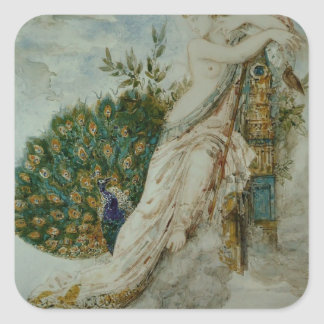 Gustave Moreau The Peacock complaining to Juno Sticker