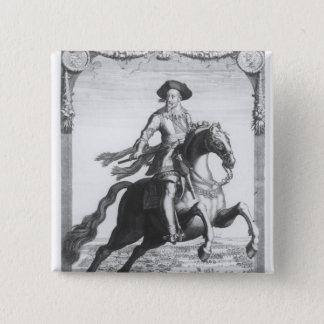 Gustavus Adolphus II, King of Sweden, on 15 Cm Square Badge