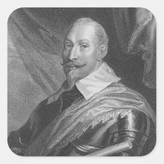 Gustavus Adolphus II  King of Sweden Square Sticker