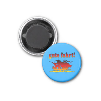 Gute Fahrt Good Trip in German Vacations Travel 3 Cm Round Magnet
