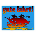 Gute Fahrt Good Trip in German Vacations Travel Poster