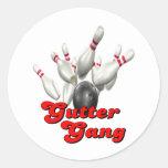 Gutter Gang Bowling Round Sticker